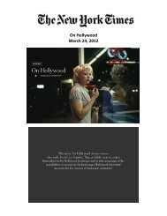 On Hollywood March 24, 2012 - Yossi Milo Gallery