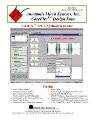 Annapolis Micro Systems, Inc. CoreFire Design Suite