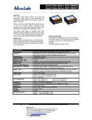 Quad Video Balun, RCA - Muxlab