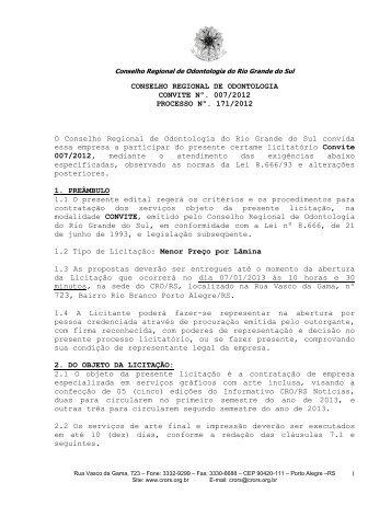 CONSELHO REGIONAL DE ODONTOLOGIA - CRO/RS