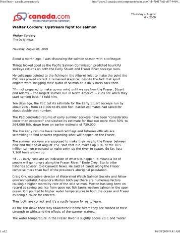 Print Story - canada.com ne... - Watershed Watch Salmon Society