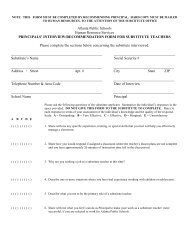 Principals' Interview Recommedation Form - Atlanta Public Schools