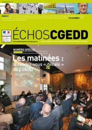 Les ÉchosCGEDD n°69 - avril 2013