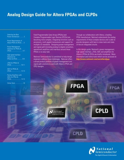 Analog Design Guide for Altera FPGAs and CLPDs - MotionFire