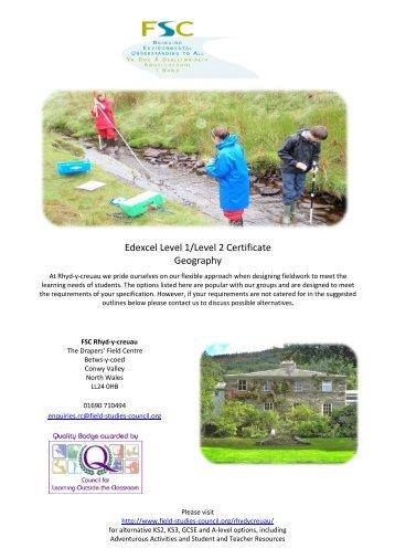 IGCSE (Edexcel) - Field Studies Council