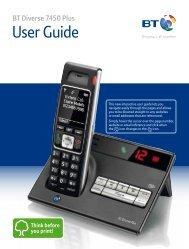 BT Diverse 7450 Plus User Guide - PMC Telecom