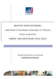 master professionnel annee universitaire 2012-2013 - cefeb