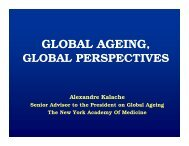 GLOBAL AGEING, - New Zealand Aged Care Association