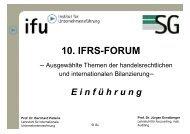 10. IFRS-FORUM - Ruhr-Universität Bochum
