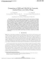 Comparison of DES and URANS for Unsteady Vortical Flows over ...