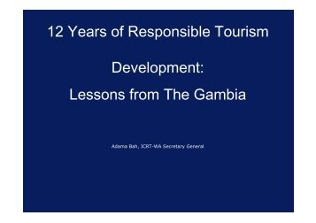 Lessons from The Gambia - Harold Goodwin