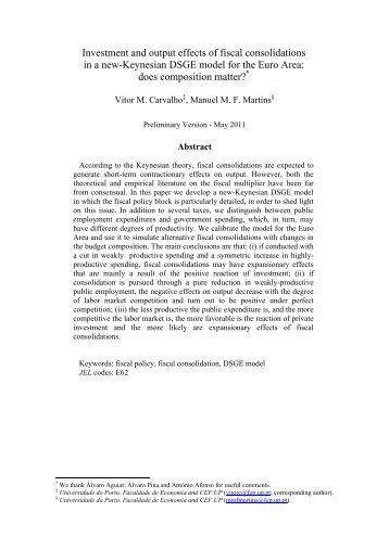 Investment and output effects of fiscal consolidations in a new ...