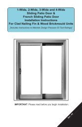 1-Wide, 2-Wide, 3-Wide and 4-Wide Sliding Patio ... - Weather Shield