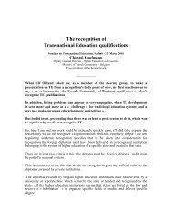 The recognition of Transnational Education qualifications