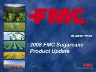 2008 FMC Sugarcane Product Update