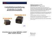 Installationsanleitung PrinterSet (II) B LAN Bondruckerinstallation ...