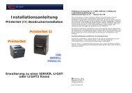 Installationsanleitung PrinterSet (II)