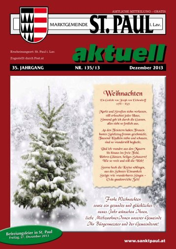 Gemeindezeitung Dezember 2013 - Marktgemeinde Sankt Paul im ...