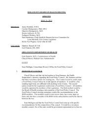 ERIE COUNTY BOARD OF HEALTH MEETING MINUTES ...