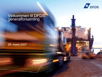 Præsenationstitel 20 pt. Arial. Sort - DFDS