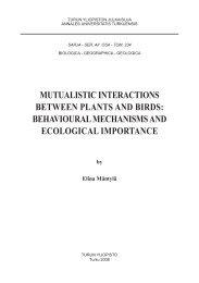 mutualistic interactions between plants and birds: behavioural - Doria