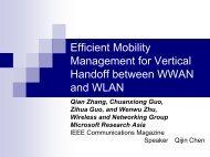Efficient Mobility Management for Vertical Handoff between WWAN ...