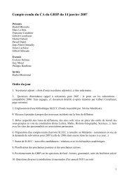 Compte-rendu du CA du GRIP du 14 janvier 2007 - slecc