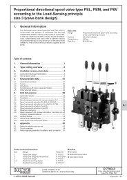 Proportional directional spool valve type PSL, PSM ... - PMCCatalogue