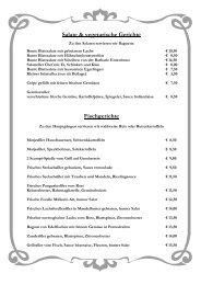 Salate & vegetarische Gerichte Fischgerichte - Post Hotel Mittenwald