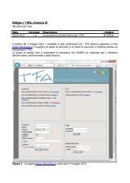 Istruzioni - TFA - Cineca