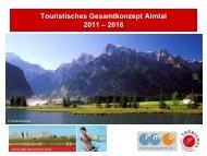 Touristisches Gesamtkonzept ALMTAL Endbericht - Vorchdorf