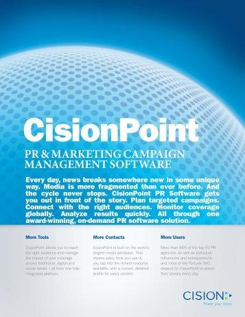 PR & MARKETING CAMPAIGN MANAGEMENT SOFTWARE - Cision