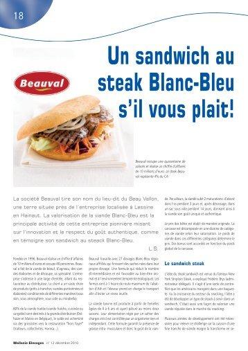 Un sandwitch au steak Blanc-Bleu s'il vous plait - Association ...