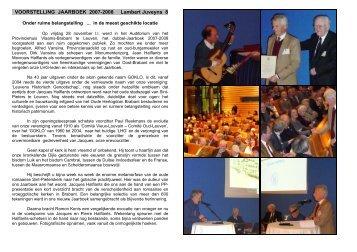 08 Voorstelling Jaarboek 2007-2008 - Leuvens Historisch ...