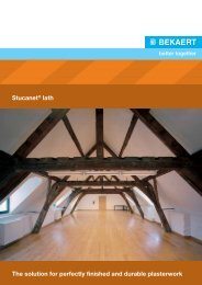 Stucanet® lath The solution for perfectly finished and ... - Bekaert