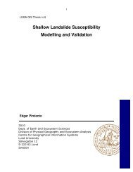 Shallow Landslide Susceptibility Modelling and Validation