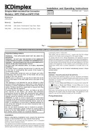 WFE Instructions - Glen Dimplex Ireland