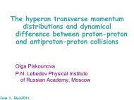 The hyperon transverse momentum distributions and dynamical ...