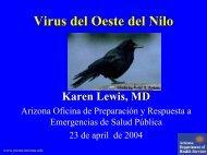 Virus del Oeste del Nilo - Reeme.arizona.edu
