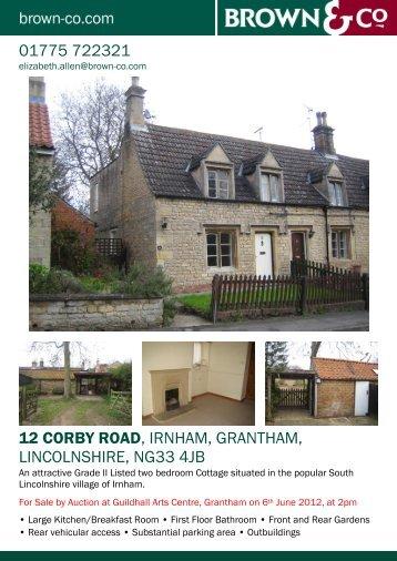 12 CORBY ROAD, IRNHAM, GRANTHAM ... - JUPIX Auctions