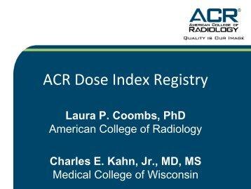 Dose index registry of ACR - MIR-Online