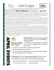 April 2013 - Lehi City