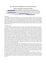 the variation of pteridine levels in mouse tissues during ... - URSI