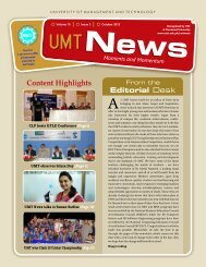 October - UMT Admin Panel - University of Management and ...