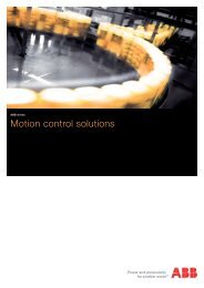 ABB drives Motion control solutions - ABB Motion Control