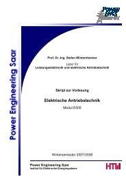 Skript zur Vorlesung Elektrische Antriebstechnik