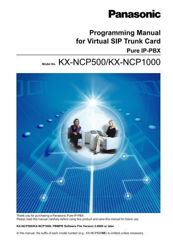 programming manual for virtual sip trunk card kx panasonic rh yumpu com panasonic kx-ncp500 user guide panasonic kx-ncp500 user guide