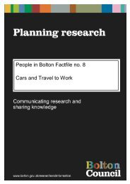 8. People in Bolton, Cars and Travel to Work Factfile upda…