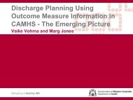 Discharge planning using outcome measure information in CAMHS ...