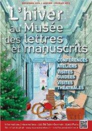 Décembre 2012 / janvier - février 2013 - Musée des lettres et ...